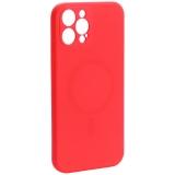 Чехол-накладка силиконовая J-case Creative Case Liquid Silica Magic Magnetic для iPhone 12 Pro Max (6.7) Красный