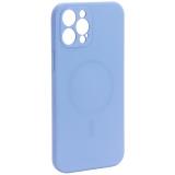 Чехол-накладка силиконовая J-case Creative Case Liquid Silica Magic Magnetic для iPhone 12 Pro Max (6.7) Серо-лавандовый