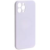 Чехол-накладка силиконовая J-case Creative Case Liquid Silica Magic Magnetic для iPhone 12 Pro Max (6.7) Белый