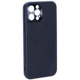 Чехол-накладка пластиковая GKS Design Creative Case с силиконовыми бортами для iPhone 12 Pro (6.1) Черный