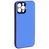 Чехол-накладка пластиковая GKS Design Creative Case с силиконовыми бортами для iPhone 12 Pro (6.1) Синий