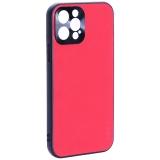 Чехол-накладка пластиковая GKS Design Creative Case с силиконовыми бортами для iPhone 12 Pro (6.1) Красный
