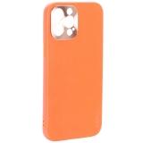 Чехол-накладка пластиковая GKS Design Creative Case с силиконовыми бортами для iPhone 12 Pro Max (6.7) Оранжевый