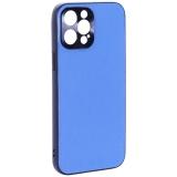 Чехол-накладка пластиковая GKS Design Creative Case с силиконовыми бортами для iPhone 12 Pro Max (6.7) Синий