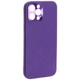 Чехол-накладка пластиковая GKS Design Creative Case с силиконовыми бортами для iPhone 12 Pro Max (6.7) Фиолетовый