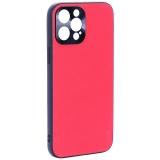 Чехол-накладка пластиковая GKS Design Creative Case с силиконовыми бортами для iPhone 12 Pro Max (6.7) Красный