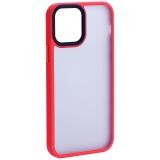 Чехол-накладка пластиковая DFANS Design Be Different Case с силиконовыми бортами для iPhone 12 / 12 Pro (6.1) Красный