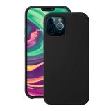 Чехол-накладка силикон Deppa Liquid Silicone Case D-87707 для iPhone 12 / 12 Pro (6.1) 1.7мм Черный