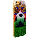 Чехол с рисунком для iPhone 6S Plus GA - Print Футбольный мяч и греб РФ вид 14