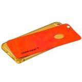 Бампер Jisoncase для iPhone 6s Plus/ 6 Plus (5.5) & наклейка кожаная JS-I6L-08P84+JS-I6L-14A30, metal+Genuine leather, Красный