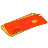 Алюминиевый бампер + кожаная накладка для iPhone 6S Jisoncase (JS - IP - 19P84 + JS - IP6 - 27A30), цвет золотистый и Красный