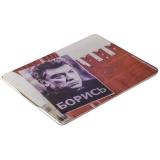 Чехол-книжка кожаный Jisoncase Executive Print для iPad 4 / 3 / 2 JS-IPD-06 с рисунком (тренд) Борис Немцов тип 001